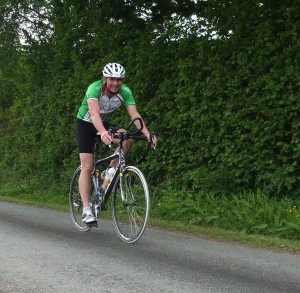 Chris at Roadford Triathlon