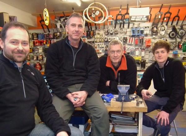 Boss and staff at knobblies Bikes