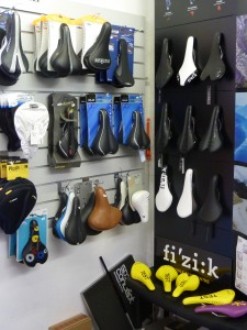 so important the saddle - test Fizik range in the shop to try!