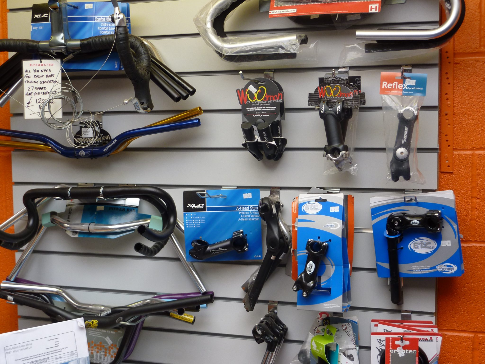 bars and stems galore for you to customise the feel of your bike